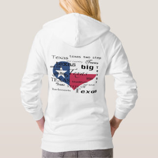 Texas Love-Word cloud+Heart Shaped Flag Hoodie