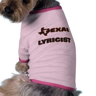 Texas Lyricist Dog T Shirt