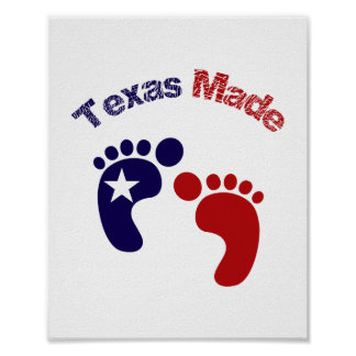 Texas Made (standard picture frame size) Poster