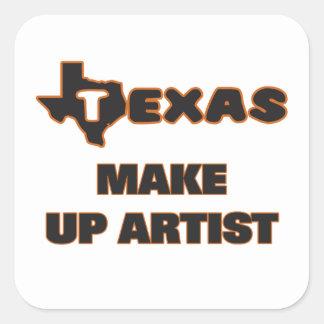 Texas Make Up Artist Square Sticker