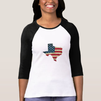 Texas map American flag T-Shirt