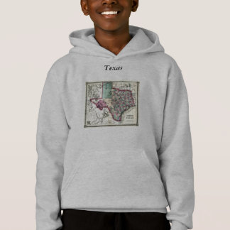 Texas Map and State Flag Hoodie