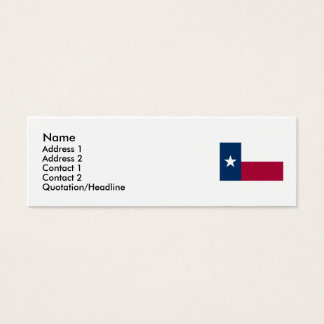 Texas Map and State Flag Mini Business Card