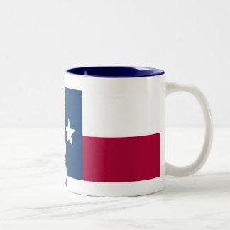 Texas Map and State Flag Two-Tone Coffee Mug