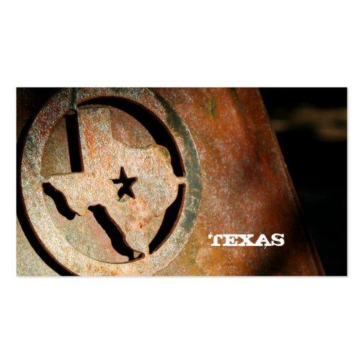 Texas Map Business Card Star Metal