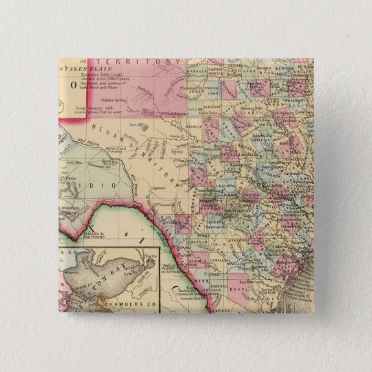 Texas Map by Mitchell Button