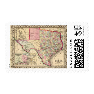 Texas Map by Mitchell Postage