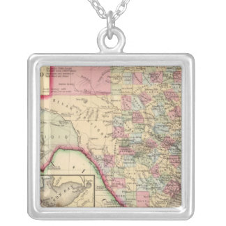 Texas Map by Mitchell Silver Plated Necklace