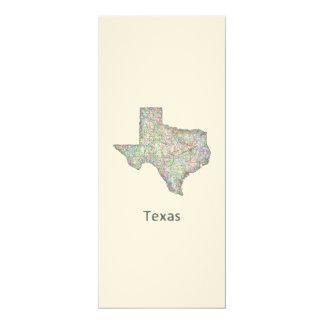 Texas map card