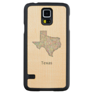 Texas map carved® maple galaxy s5 slim case