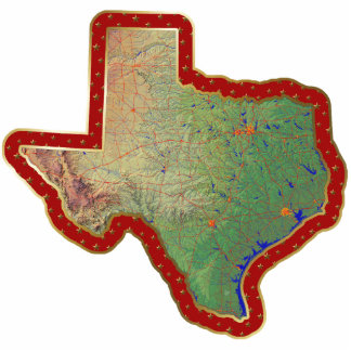 Texas Map Christmas Ornament Cut Out