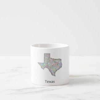 Texas map espresso cup