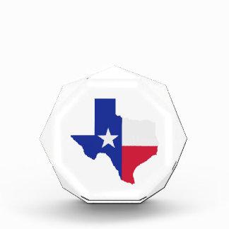 Texas map flag awards