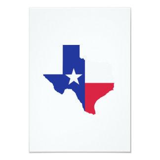 Texas map flag card