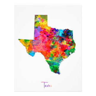 Texas Map Flyer