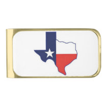 TEXAS MAP GOLD FINISH MONEY CLIP