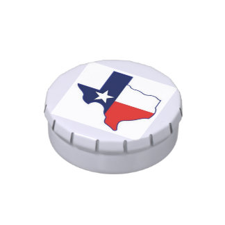 TEXAS MAP JELLY BELLY TIN