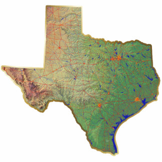 Texas Map Keychain Cut Out