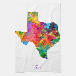 Texas Map Kitchen Towel