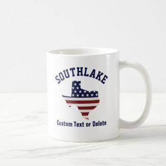 Texas Map | Patriotic USA Flag | Your City or Text Coffee Mug