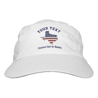 Texas Map | Patriotic USA Flag | Your City or Text Headsweats Hat