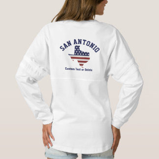 Texas Map | Patriotic USA Flag | Your City Spirit Jersey