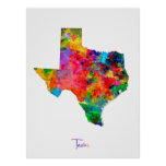 Texas Map Poster