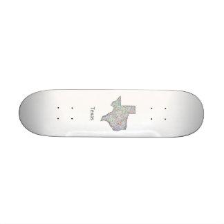 Texas map skateboard
