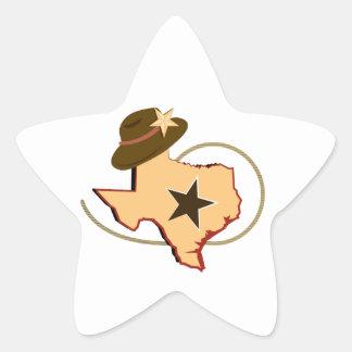 Texas Map Star Sticker