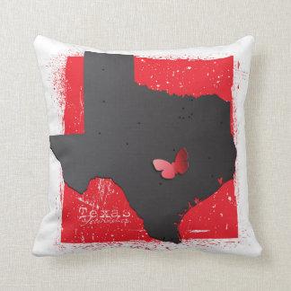 Texas Map Throw Pillow