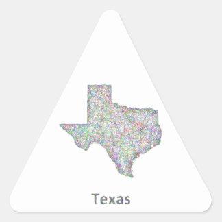 Texas map triangle sticker