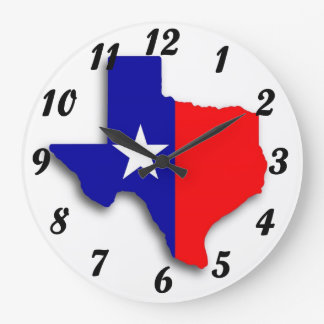 Texas Map Wall Clock
