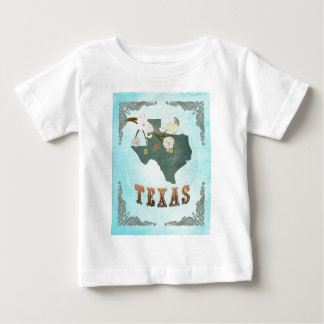 Texas Map With Lovely Birds Shirt