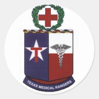 texas medical Rangers round decal Classic Round Sticker