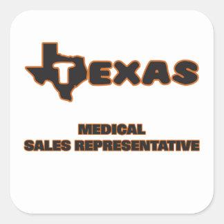Texas Medical Sales Representative Square Sticker