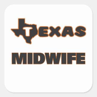 Texas Midwife Square Sticker