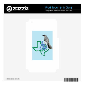 Texas Mockingbird Decals For iPod Touch 4G