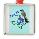 Texas Mockingbird Metal Ornament