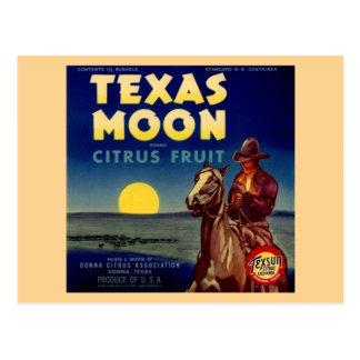Texas Moon Citrus Fruit Crate Label Postcard