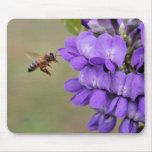 Texas Mountain Laurel Bee in Flight Mouse Mats