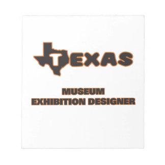 Texas Museum Exhibition Designer Memo Pad