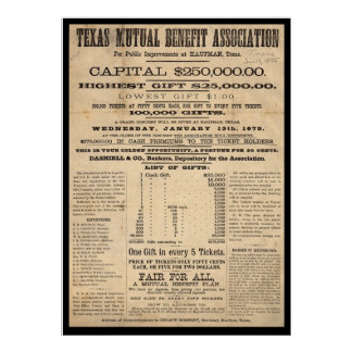 Texas Mutual Benefit Association Poster