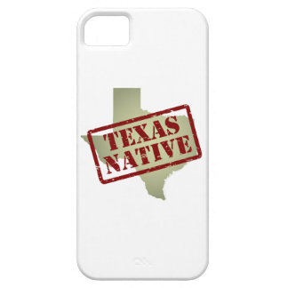 Texas Native Stamped on Map iPhone 5 Cases