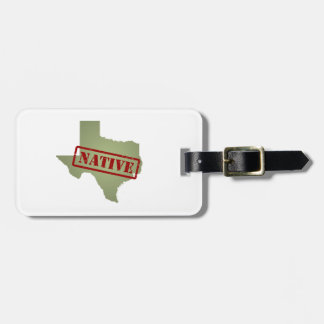 Texas Native with Texas Map Tags For Luggage