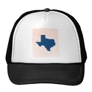 Texas Navy Blue Pink Gold Hat