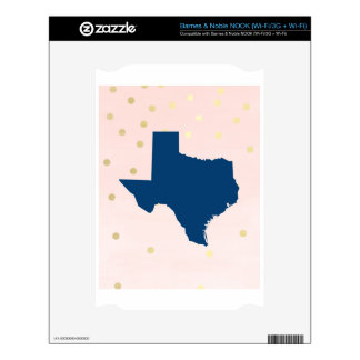 Texas Navy Blue Pink Gold Decals For NOOK