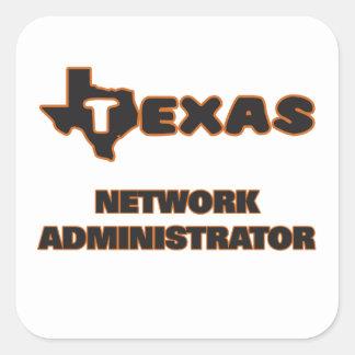 Texas Network Administrator Square Sticker