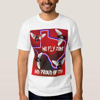 Texas No Fly Zone Tee Shirt