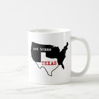 Texas / Not Texas Classic White Coffee Mug