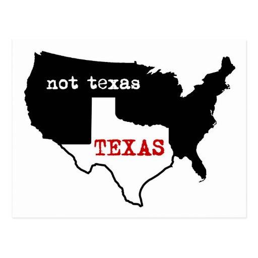 Texas / Not Texas Postcard